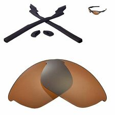 Walleva Brown Replacement and Black Rubber Kit for Oakley Half Jacket 2.0