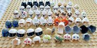 Lego Star Wars Minifig Headgear Lot 60 Clone Trooper Rebel Pilot Droid Helmets