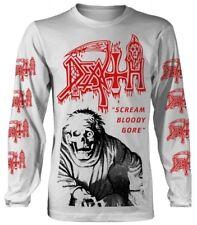 "Death ""Scream BLOODY Gore"" (Bianco) a maniche lunghe-ultrakult Clothing-NUOVO"
