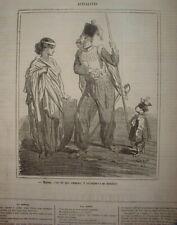 CHAR 074 CARICATURE 1863 INSURECTION POLOGNE PETIT POLONAIS