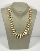 Vintage Necklace Collar Length Shell Chips Surfer Tiki Holiday Cruise Costume