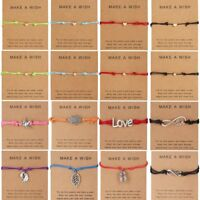 Lucky Wish Bracelet Tibetan Charm Friendship Best Friend Adjustable Bangle Gift