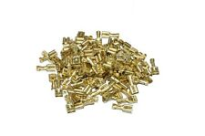 50x GUAINA PER PRESA CONNETTORE FASTON MASCHIO CAPOCORDA OTTONE 6,3MM 1 - 2,5