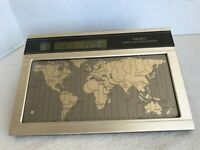 Seiko World Time Touch Sensor Desk Clock vintage Tested And Working Name Marker