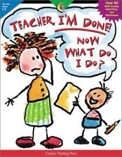 Teacher, I'm Done! Now What Do I Do?, Lewis, Sue, New Book