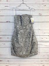 Jessica McClintock Womens Strapless Dress Tiger Stripe Size 6