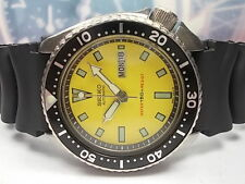 SEIKO 150M DIVERS DAY/DATE MEN'S WATCH 6309-729A, YELLOW (MAR 1985)
