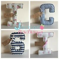 Christening Gift Letters,Handmade Nursery name, personalised, girl, boy With Tag