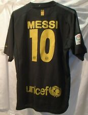 Lionel Messi FC Barcelona Nike Dri-Fit Soccer Jersey Mens Size Large