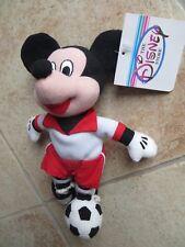Disney Soccer Mickey Plush Mini Bean Bag Beanie Doll NEW