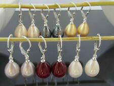 Gefärbte echte Perlen-Ohrschmuck