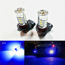 2x Blue H10 15w High Power Bright LED Bulbs 5730 15-SMD Fog Light Replacement