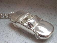 Schlüsselanhänger Mazda MX 5  ab BJ. 1998 versilbert  5149
