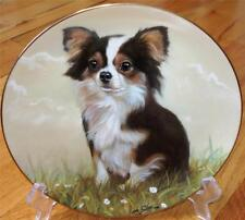 Danbury Mint Chihuahua Puppy Dog Peaceful Moment Limited Edition Plate + COA