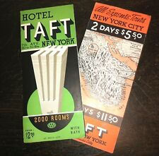 Deco Hotel Taft New York Radio City Music Hall Aaa Travel Brochures 1940 Map