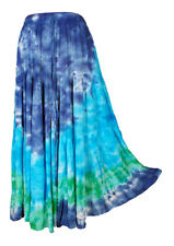 Tie Dye Tiered Hippie Boho Long Maxi Skirt Size 10 12 14 16 18 20 22 24
