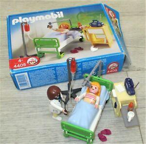 Playmobil 4405 Krankenzimmer City Life Klinik Krankenbett mit Ärztin - Sammlung