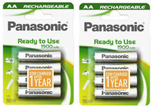 8 x Panasonic AA Rechargeable Battery 1900 mAh Ready To Use HR06 LR6 NiMH MN1500