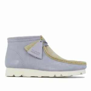 Men's Clarks Originals Wallabee Gen Lace up Cushioned Boots in Blue