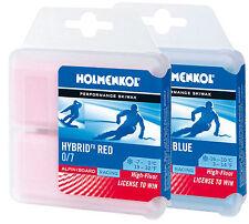 Holmenkol Hybrid FX red/blue Kollektion 2x70g Rennwachs Set