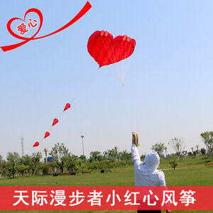 2020 Soft Kite Little Red Heart Love Couple Thread Without Skeleton Kite
