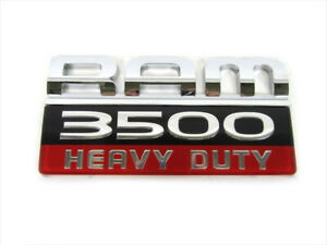 2007-2012 Dodge Ram 3500 Heavy Duty Emblem Decal Nameplate MOPAR GENUINE OE NEW