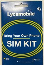 Lycamobile $23 Plan Prepaid 1st Month Free SIM Card 2GB 4G Unlimited Talk, Text