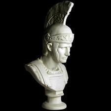 "Roman General Caesar with Helmet bust 34"" Museum Sculpture Replica Reproduction"