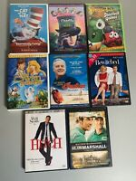 8 Family DVD Lot (Hitch, Veggie Tales, Swan Princess, Cat In The Hat, Bewitched)