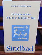 collectif Ecrivains arabes d'hier et d'aujourd'hui ...
