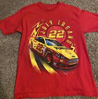 Men's NASCAR Team Penske #22 Joey Logano Double Sided Vinyl Graphic Tee M