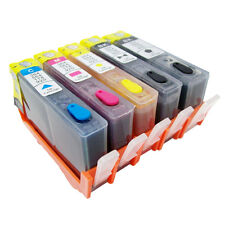 FULL Refillable Ink Cartridges for HP 564 564XL - 5pk (PGBK + BCMY) + 5 Syringes