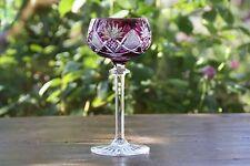 Cristal  Val Saint Lambert  Berncastel  Roemer - Verre à vin du Rhin  -  Mauve
