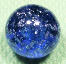 "Large Vintage German handmade 15/16"" Blue Blizzard Mica (Mint-) marbles"