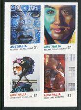 2017 Street Art - Block of 4 Booklet Stamps