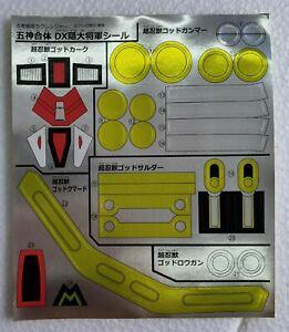 Power rangers  labels for  Ninja Megazord Japan ver