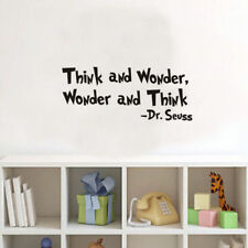 Think and Wonder Quote Dr Seuss Words Wall Sticker Room Lettering Vinyl Decal
