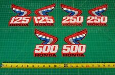 87' 1987 Honda CR250R CR125, CR500R tank 2pc radiator shroud decals stickers MX
