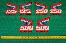 87' 1987 CR250R CR125, CR500R tank 2pc radiator shroud decals stickers MX
