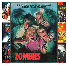 "Mini Posters [13 posters 8""x11""/A4] Zombies Horror Vintage Trash Movie MP427"