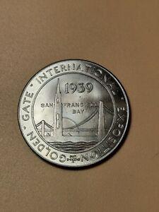 1939 Golden Gate Bridge International Exposition Token San Francisco Bay