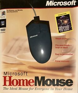 Microsoft Home Mouse w/ Microsoft Arcade Included (Windows 95, 98, DOS) Sealed