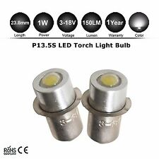2x Torch lamps 3-12v P13.5S (4 3 2 Cell) Krypton PF pre focus flashlight bulb