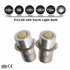 2x Torch lamps DC 3-12v P13.5S (4 3 2 Cell) Krypton PF pre focus flashlight bulb