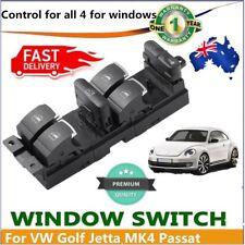 New Chrome Car Master Power Window Switch For VW Bora Jetta Golf GTI MK4 Pass OP