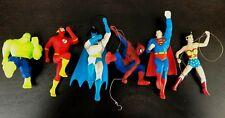Lot Six Superhero Hallmark ornaments Batman Superman Hulk Wonder Woman Spiderman