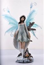 Snow Fairy Figurine with Metal Wings  - Legends of Avalon Ship Worldwide