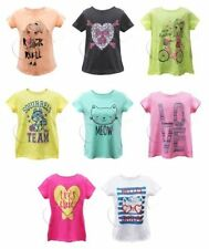 Unbranded Girls' No Pattern 100% Cotton T-Shirts & Tops (2-16 Years)
