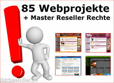 85 WEBPROJEKTE  Bonus Webprojekt Script Scripte Internet WEBSITE MASTER RESELLER
