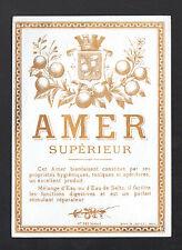ETIQUETTE Chromo ANCIENNE de Liqueur AMER Supérieur / Imp DOUIN & JOUNEAU N°522